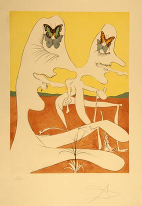 """Dalí Salvador, Papillons de l'anti-matière, from """"La Conquête du cosmos"""", 1974"""