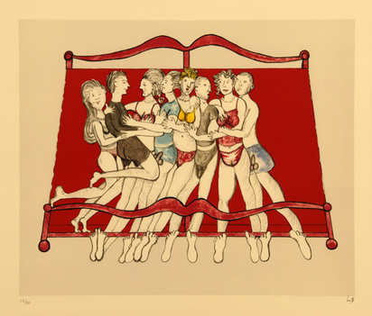 Bourgeois Louise, Eight in Bed, 2000