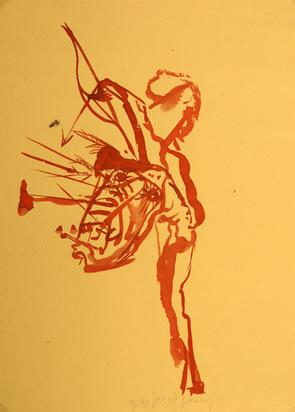 """Beuys Joseph, Untitled (Indianer mit Pfeilen beschossen), from """"Spur I"""", 1974"""