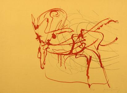 """Beuys Joseph, Untitled (Hirsch und Sonne), from """"Spur I"""", 1974"""
