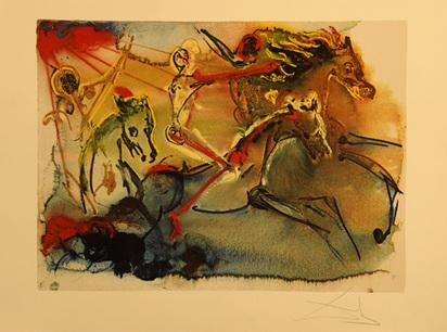 Dalí Salvador, Les Cavaliers de l'Apocalypse, 1971