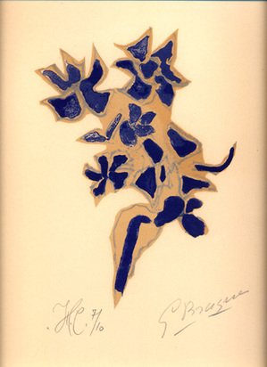 "Braque Georges, Giroflée bleue, from ""Lettera amorosa"", 1963"