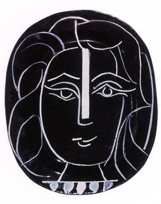 Picasso Pablo, Woman's face, 1953