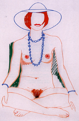 Wesselmann Tom, Monica Crosslegged with Beads, 1985/2004