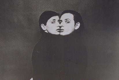 Lüthi Urs, Selfportrait with Ecki, 1973/1974