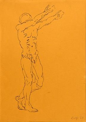 Penck A.R., Male Nude, 1960