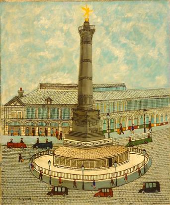 Vivin Louis, Place de la Bastille