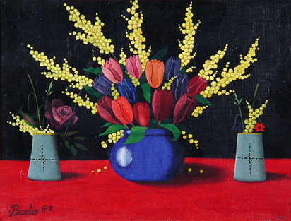 Bombois Camille, Tulipes et Mimosa