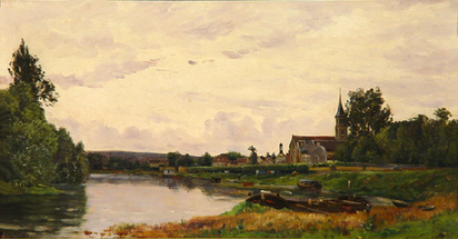 Delpy Hippolyte Camille, Paysage fluvial