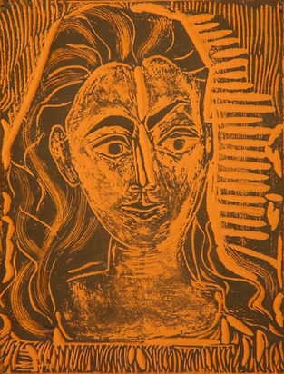 Picasso Pablo, Little bust of woman, 1964
