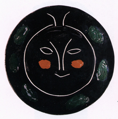 """Picasso Pablo, Plate I, from """"Black face"""" service, 1948"""