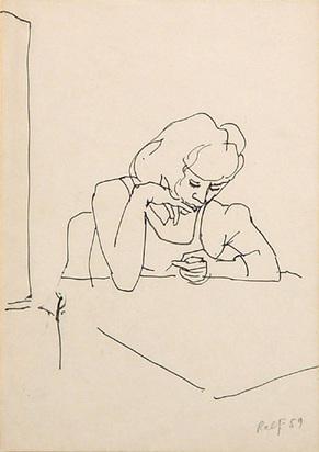 Penck A.R., Sitting Woman, 1959