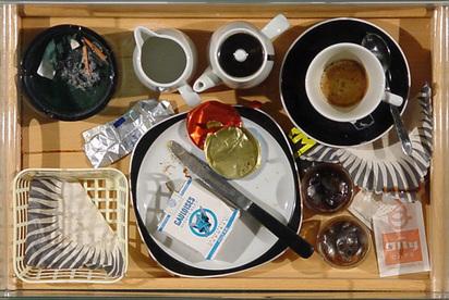 Spoerri Daniel, Variations d'un petit déjeuner, 1966