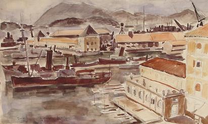 Dunoyer de Segonzac André, Port de Toulon
