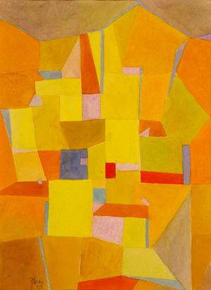 Itten Johannes, Yellow Composition, 1955