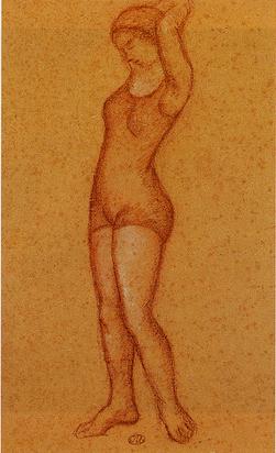 Maillol Aristide, Jeune femme aux bras levés