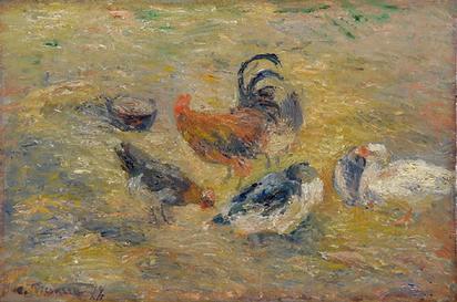 Pissarro Camille, Poules et Coq, 1877