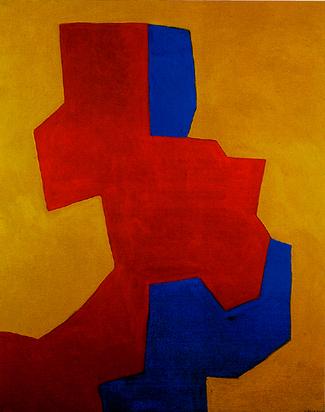 Poliakoff Serge, Composition rouge, bleue et jaune, 1967