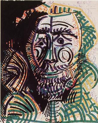 Picasso Pablo, Tête d'homme, 1969