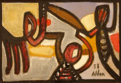 Atlan Jean-Michel, Sans titre, 1958