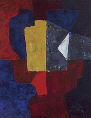 Poliakoff Serge, Composition rouge, vert, blanc, jaune, 1962