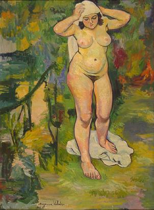 Valadon Suzanne, Nu dans un paysage, 1923