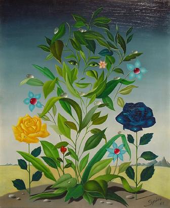 Spiro Georges, Visage fleurs, 1962