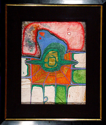 Hundertwasser Friedensreich, The third consequence of a German earth becoming now a Spidernet, 1961