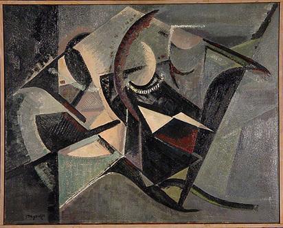 Deyrolle Jean, D'un Bijou rose et noir No. 44, 1945