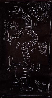 Haring Keith, Subwaydrawing