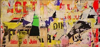 Villeglé Jacques de la, Rue du Grenier St. Lazare, 1973