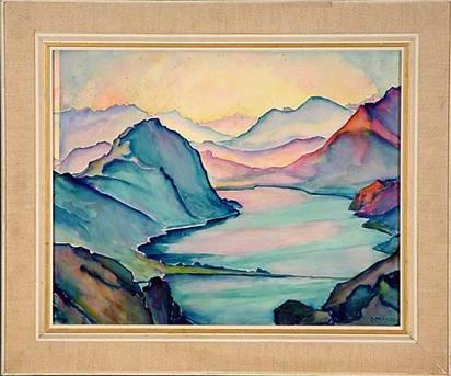 Porges Clara, Lago di Lugano con San Salvatore