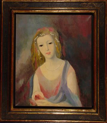 Laurencin Marie, Jeune fille à la chevelure fleurie, approx. 1937