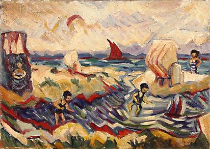 Helbig Walter, Badefreuden an der See, approx. 1914
