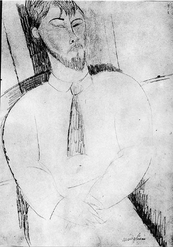 Modigliani Amedeo, Henri Laurens, 1915