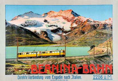 Anonym 20. Jh., Bernina-Bahn