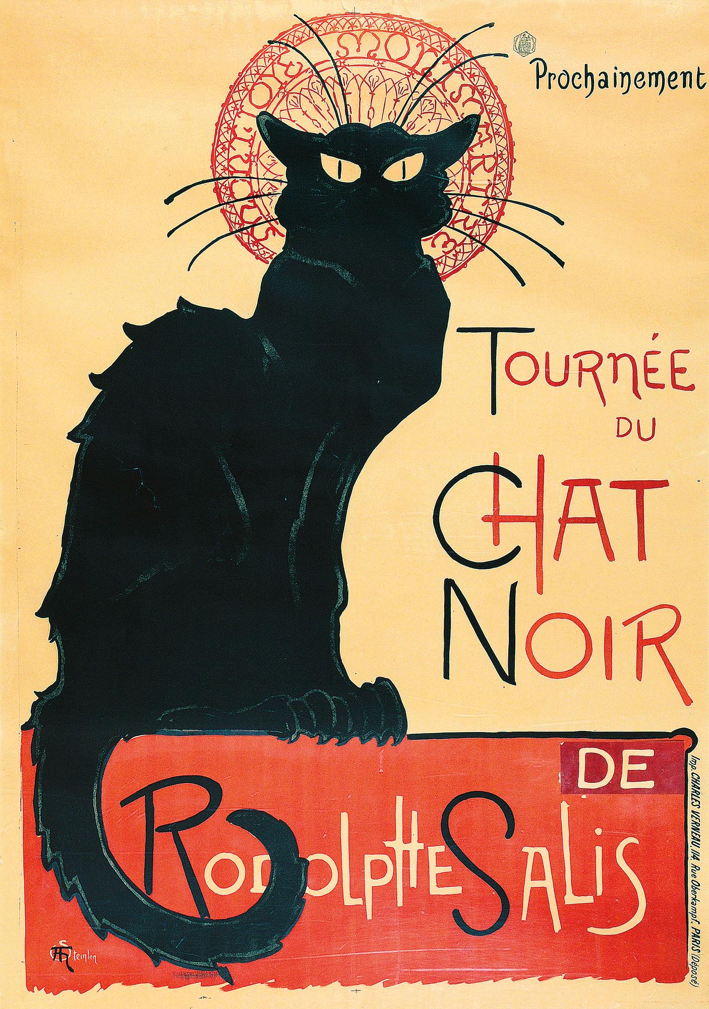 Steinlen Théophile Alexandre, Tournée du Chat Noir