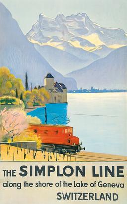 The Simplon Line - along the shore of the Lake of Geneva, Switzerland