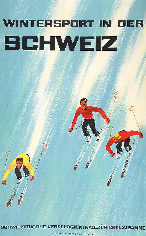 Diggelmann Alex Walter, Wintersport in der Schweiz