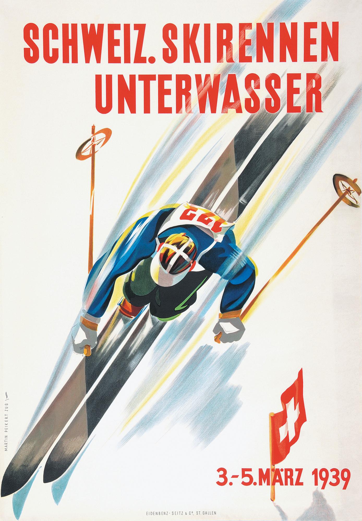 Peikert Martin, Switzerland. Skirennen Unterwasser