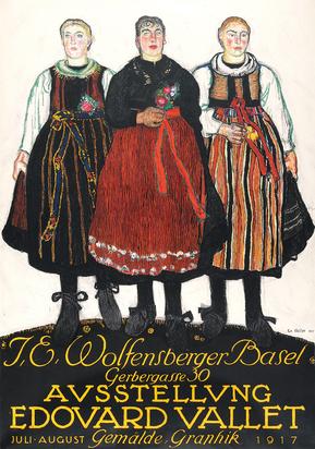 Ausstellung Edouard Vallet - J.E. Wolfensberger, Basel