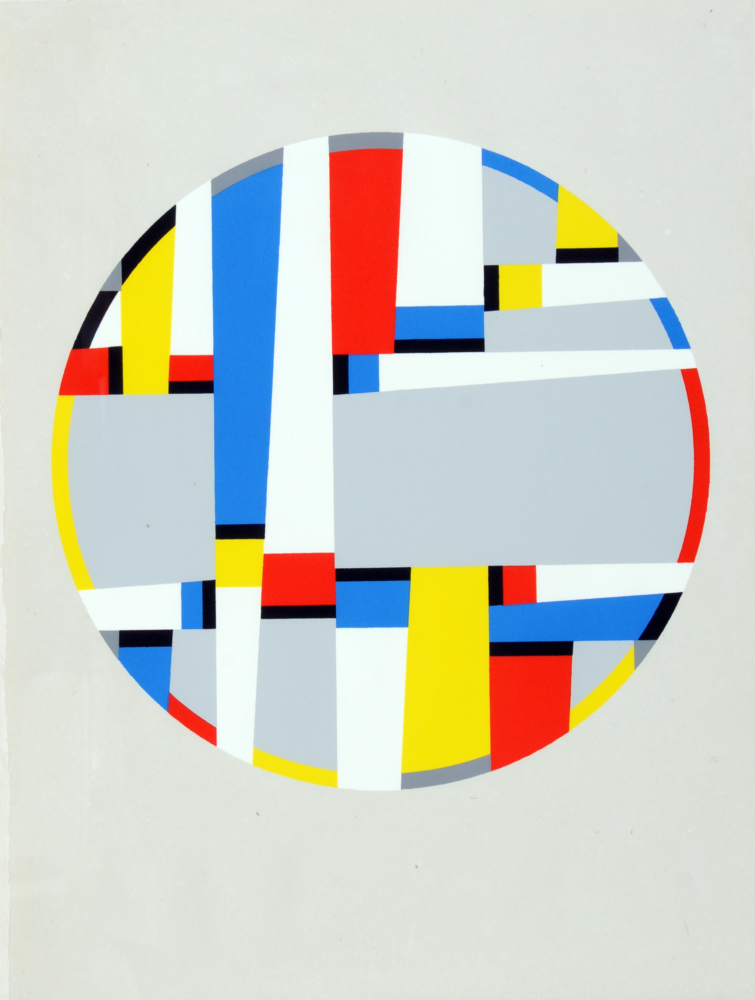 "Glarner Fritz, Tondo 1963-1972, from ""Letzte Werke"""