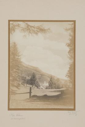 Steiner Albert, 2 photographs: Bei Fetan Unterengadin; Frau mit Reh