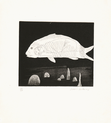 "Hockney David, The Boy Hidden in a Fish, from ""Six Fairy Tales from the Brothers Grimm"""
