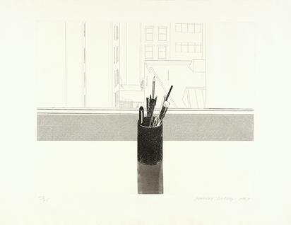 Hockney David, Still Life (View from Henry Geldzhaler's New York apartment)