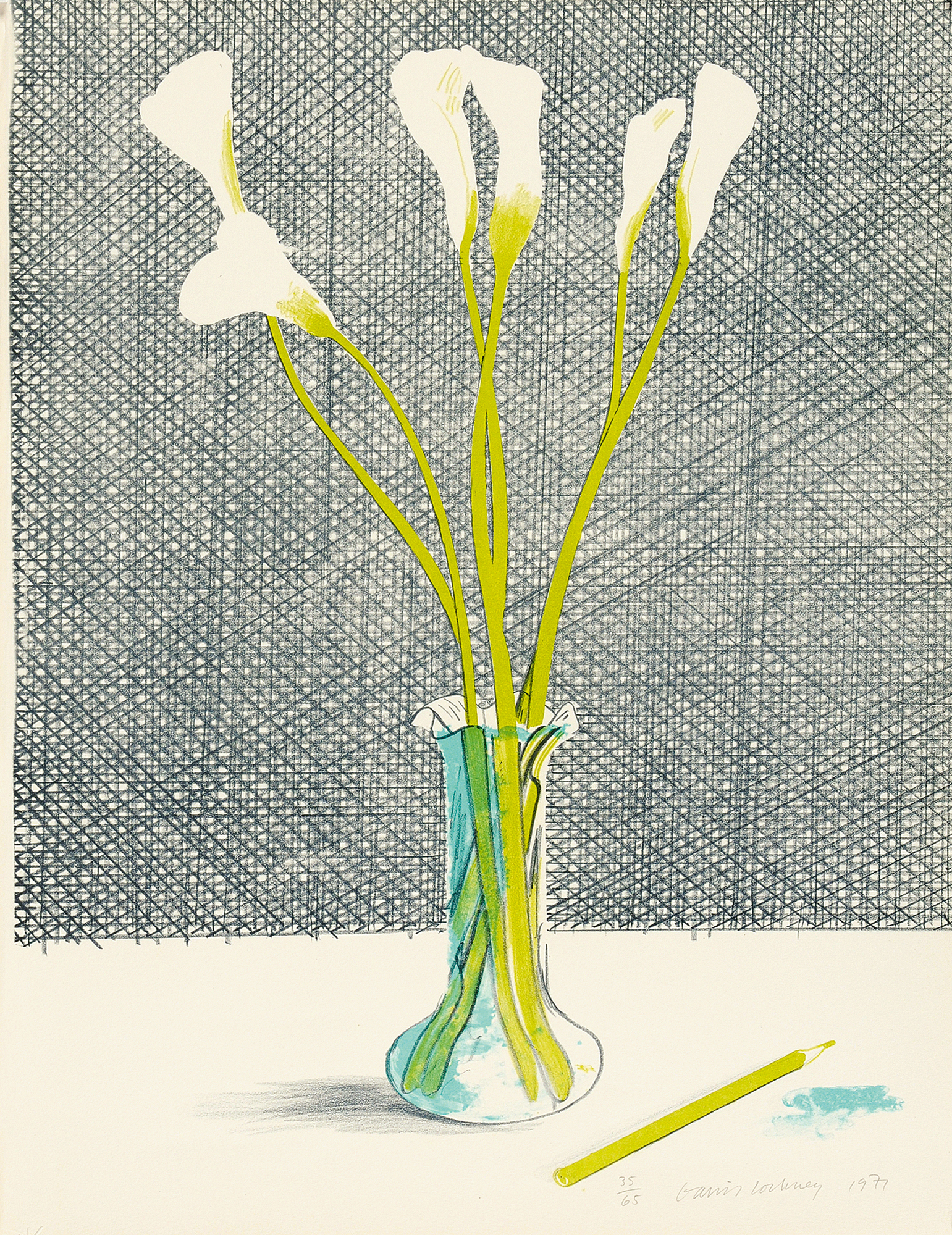 "Hockney David, Lilies, from ""Europäische Graphik No. VII"""