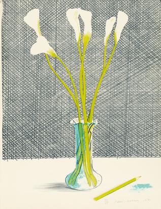 """Hockney David, Lilies, from """"Europäische Graphik No. VII"""""""