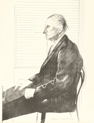 Hockney David, Portrait of Felix H. Mann