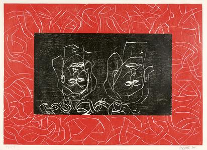 Baselitz Georg, Rote Schwestern/Aman