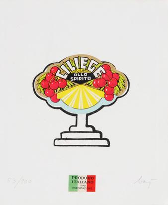 Baj Enrico, 2 Blätter: Albero di ciliege, 1966; Coca-Coca